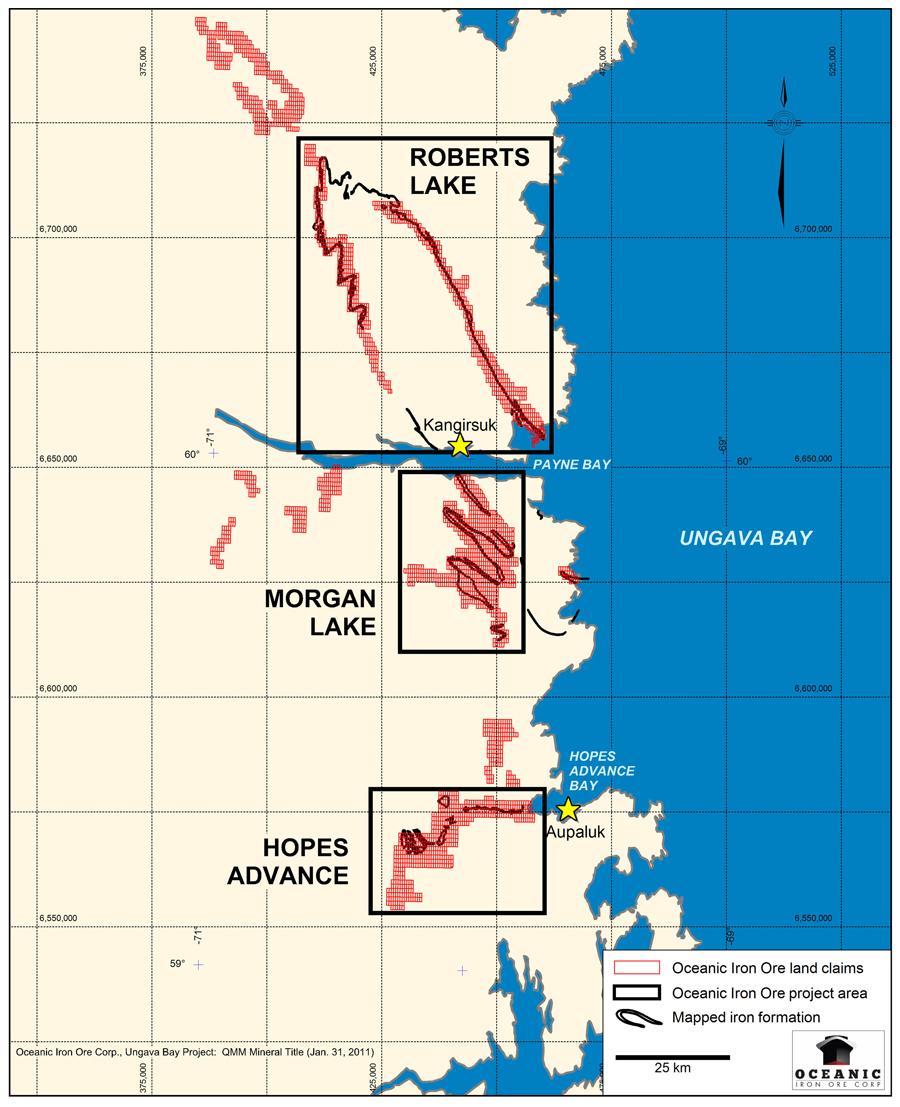 Ungava Bay Iron Deposits Oceanic Iron Ore Corp